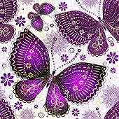 pic of lilas  - Seamless spring transparent pattern with violet - JPG