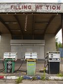 Old Closed Down Filling Station