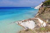 Coast at Corfu island in Greece