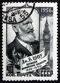 Postage Stamp Russia 1956 George Bernard Shaw, Playwright