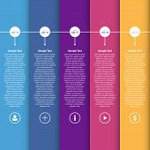 Colorful Flat Timeline Template