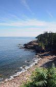 Rocky Coast Of A Maine