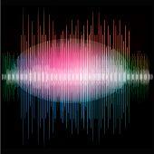 Sharp colorful waveform