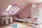 stock photo of attic  - Urban apartment  - JPG