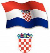 Croatia Textured Wavy Flag Vector