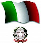 Italy Textured Wavy Flag Vector