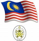 Malaysia Textured Wavy Flag Vector