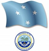 Micronesia Textured Wavy Flag Vector