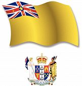 Niue Textured Wavy Flag Vector