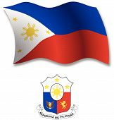 Philippines Textured Wavy Flag Vector