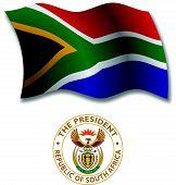 South Africa Textured Wavy Flag Vector
