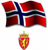 Svalbard Textured Wavy Flag Vector