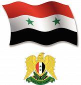Syria Textured Wavy Flag Vector