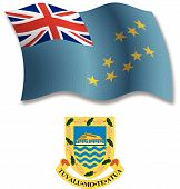 Tuvalu Textured Wavy Flag Vector