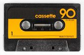 stock photo of magnetic tape  - a vintage retro old audio cassette tape - JPG