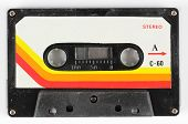 picture of magnetic tape  - a vintage retro old audio cassette tape - JPG
