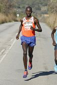 BARCELONA - FEB,2: Kenyan Wilson Kipsang, Current world record holder running during Granollers Half