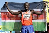 BARCELONA - FEB,2: Kenyan Wilson Kipsang, Current world record holder in the marathon after of his v