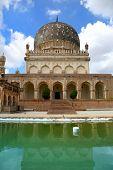 Historic Quli Qutbshahi tomb and reflection  in Hyderabad, India