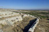 archaeological remains an Iberian settlement, Roden, Zaragoza, Aragon, Spain.