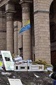 KIEV, UKRAINE - FEB 10, 2014: Downtown of Kiev.Situation in the city.. Riot in Kiev and Western Ukraine.February 10, 2014 Kiev, Ukraine