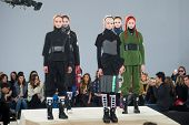 NEW YORK-FEB 13: Models pose on the runway at the Marc Jacobs fashion show during Mercedes-Benz Fash
