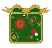 Christmas Starbursts In Green - Vector