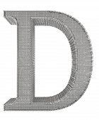 Chain Link Steel Alphabet - D