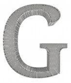 Chain Link Steel Alphabet - G