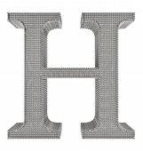 Chain Link Steel Alphabet - H