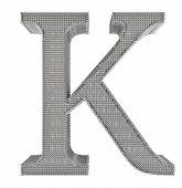 Chain Link Steel Alphabet - K