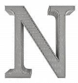 Chain Link Steel Alphabet - N