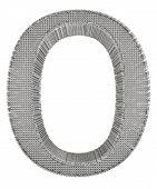 Chain Link Steel Alphabet - O