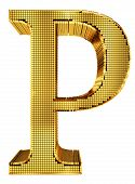 Rich Golden Cube Alphabet - P