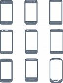 Smartphones icon set