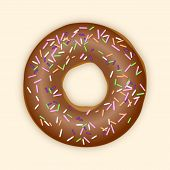 Chocolate Donut. Vector Illustration