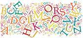 English Alphabet Background