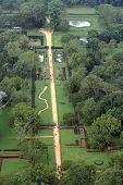 Garden under Sigiriya Rock, Sri Lanka