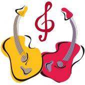 Guitar Yinyang poster
