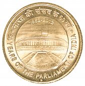 5 Indian Rupees Coin - 60 Years Of Parliament