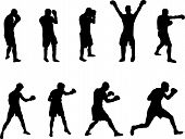foto of boxing gloves  - vector images of men boxing and sparing - JPG