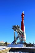 The rocket «Vostok» on the launch pad in Moscow