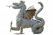 image of tatar  - Zilant black crowned dragon personage of the Tatar fairy - JPG
