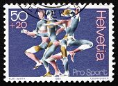 Postage Stamp Switzerland 1986 Man, Vitality And Movement