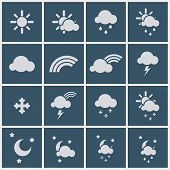 pic of meteoric rain  - Wheather icons  - JPG