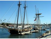 Tall Ships In Harbor
