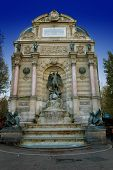 picture of mona lisa  - Saint Michael fountain in ParisFrance  - JPG