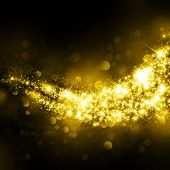 pic of cosmic  - Gold glittering stars dust trail background - JPG