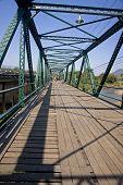 Old Wooden Memotial Bridge In Pai