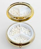 Pill Box With Sugar Homeopathy Balls